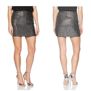French Connection Desiree Disco Sequin Mini Skirt